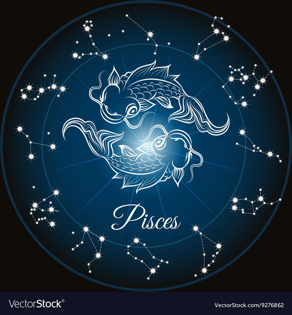 Zodiac Sign Pisces Vector 9276862