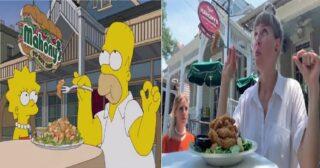 ពិតជាអស្ចារ្យមែន! អ្នកទេសចរជនជាតិស្វីសពីរនាក់កំពុងធ្វើដំណើរកំសាន្ត ហើយថតយករូបភាពតាម ដំណើររឿង The Simpsons និយាយពីថាឡូយខប់ៗតែម្តង!(មានវីដេអូ)