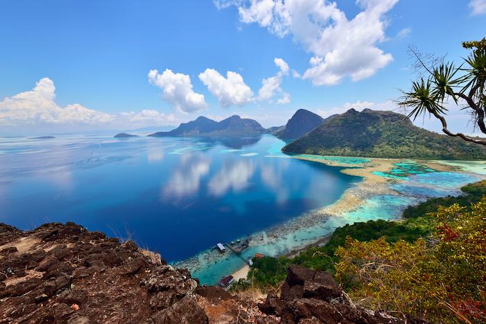 Scenery,On,Top,Of,Bohey,Dulang,Island,Near,Sipadan,Island.