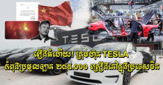 រឿងធំហើយ! ក្រុមហ៊ុន Tesla កំពុងប្រមូលឡាន ២៨៥.០០០ គ្រឿងនៅក្នុងប្រទេសចិនដោយសារតែមានបញ្ហាបច្ចេកទេស